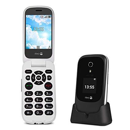 Doro 7060 Smart Klaptelefoon in de kleur zwart