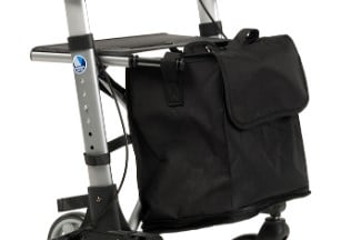 Rollator Quadri light wiel boodschappentas en tas om de rollator in te pakken