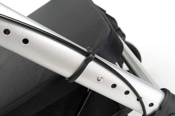 Rollator Vermeiren Goliat met verstelbare zitting in kleur grijs detail