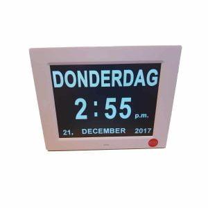 Digitale Kalenderklok Thuiszorgwinkel.nl