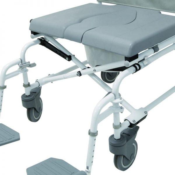 """Douche-toilet-rolstoel DuoMotion XL, in hoogte verstelbaar met 4x 5"""" wielen van het merk Drive voorkant"""