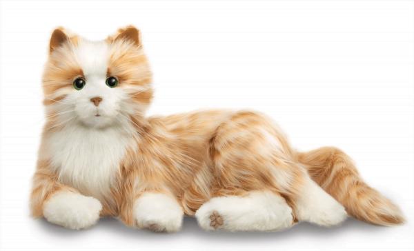 interactie kat specifiek voor ouderen van merk Hasbro Joy for all in oranje rood