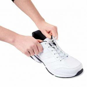 Schoenveters elastisch in de kleur wit