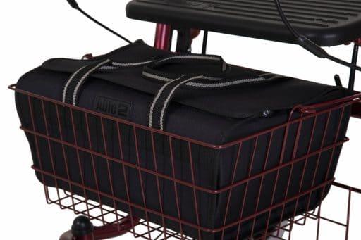 Praktische rollator tas voor in de mand van de rollator in e kleur zwart