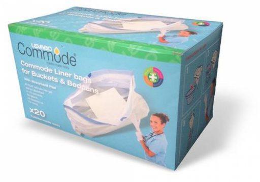 Toiletemmerzakken verpakt per 20 stuks eenvoudig te gebruiken voor postoel of bedpan