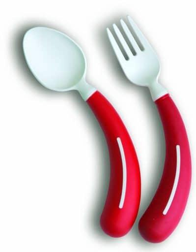 Henro-Grip® Bestek - lepel en vork kleur rood