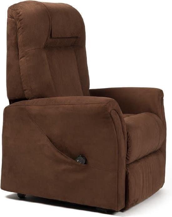 Ontario 2 sta-op stoel in de kleur bruin stof