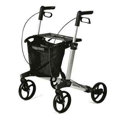 Gemino 30 rollator ontwikkeld voor mensen met Parkinson met vertraagd remsysteem en laserstraal