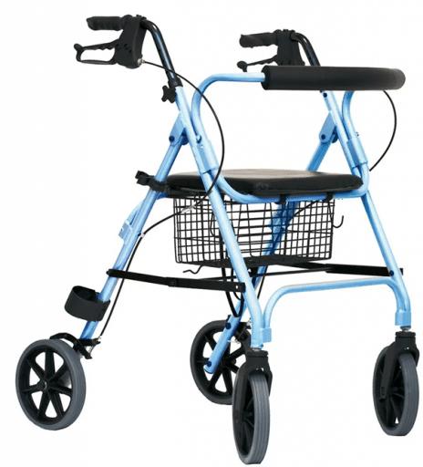 Rollator Move compleet met rugsteun, mand in kleur