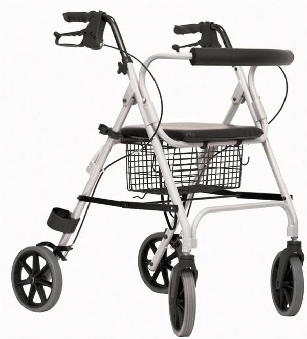 Rollator Move compleet met rugsteun, mand in kleur grijs